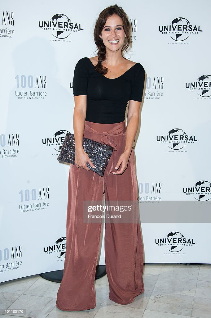 Melanie Bernier attends the 100th anniversary of Universal and Lucien Barriere at Royal Barriere hotel during the 38th Deauville American Film Festival on September 1, 2012 in Deauville, France.