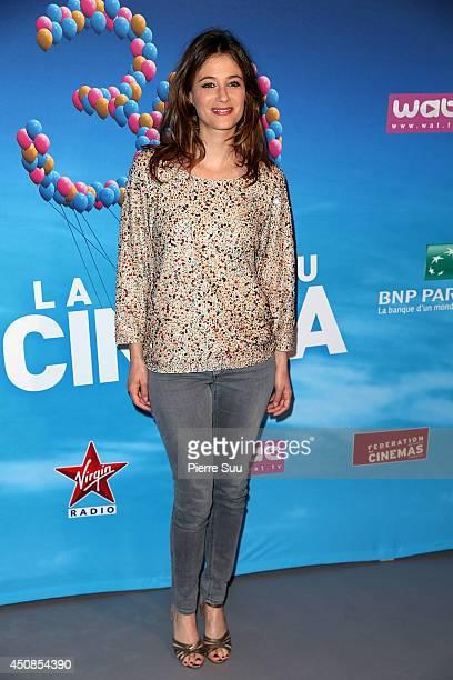 Melanie Bernier attends the 'fete Du Cinema'press conference at 'Studio Harcourt' on June 19 2014 in Paris France