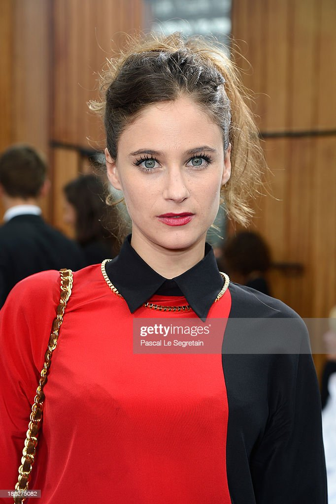 Melanie Bernier attends the Maxime Simoens show as part of the Paris Fashion Week Womenswear Spring/Summer 2014 at Orangerie du Parc Andre Citroen on September 29, 2013 in Paris, France.