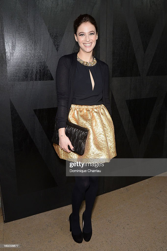 Melanie Bernier attends the Miu Miu Fall/Winter 2013 Ready-to-Wear show as part of Paris Fashion Week on March 6, 2013 in Paris, France.