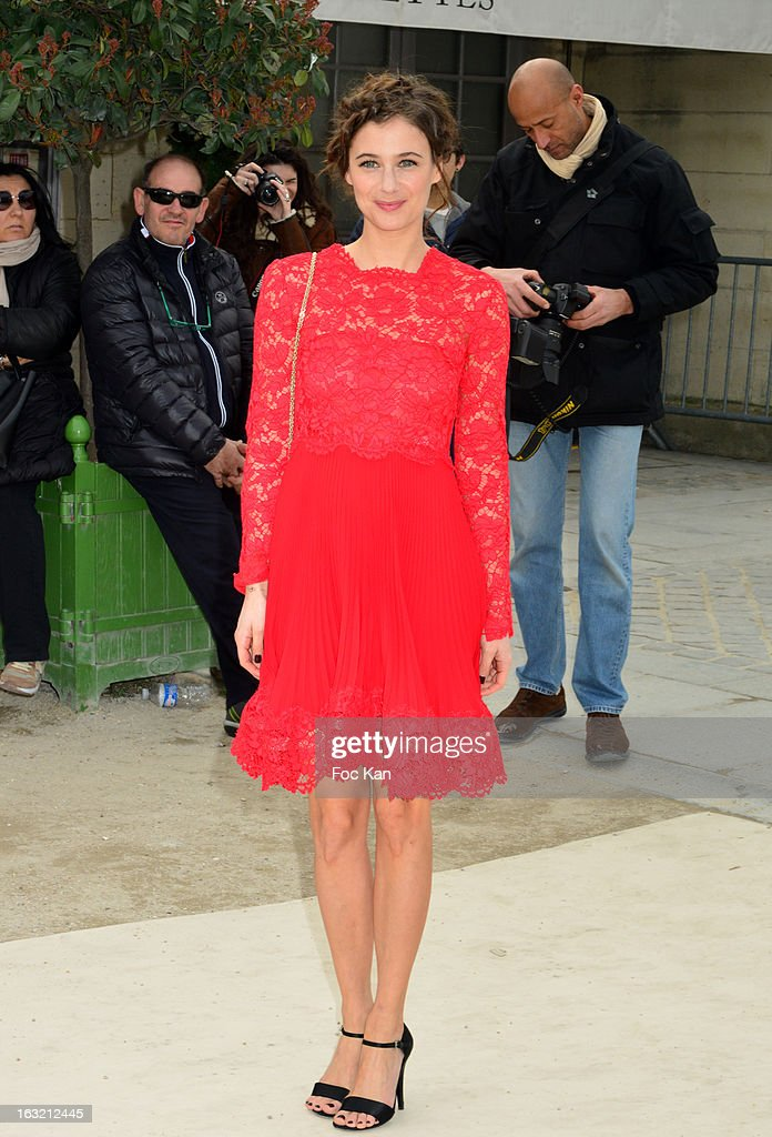 Melanie Bernier attends the Valentino - Outside Arrivals - PFW F/W 2013 at the Espace Ephemere des Tuileries on March 5, 2013 in Paris, France.