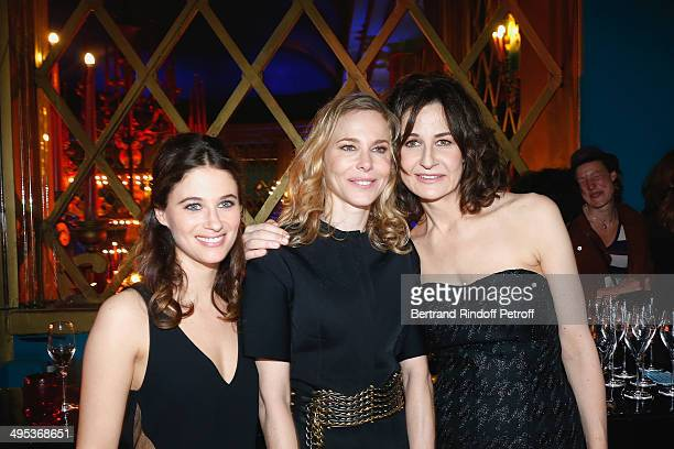 Melanie Bernier Pascale Arbillot and Valerie Lemercier attend the 26th Molieres Awards Ceremony at Folies Bergere on June 2 2014 in Paris France