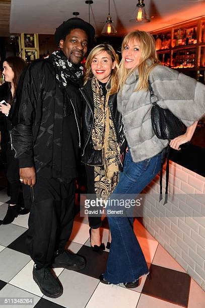 Melanie Blatt and Guests attend a party following the Pam Hogg show at Fashion Scout during London Fashion Week Autumn/Winter 2016/17 at Bonbonniere...