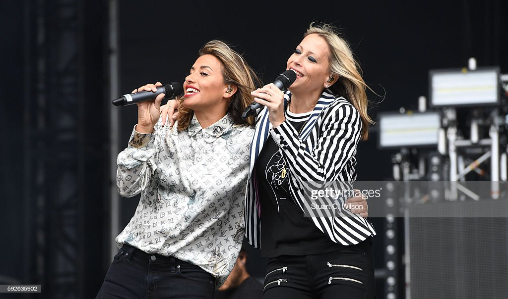 Melanie Blatt and Nicole Appleton of 'All Saints' perform during the V Festival at Hylands Park on August 21 2016 in Chelmsford England