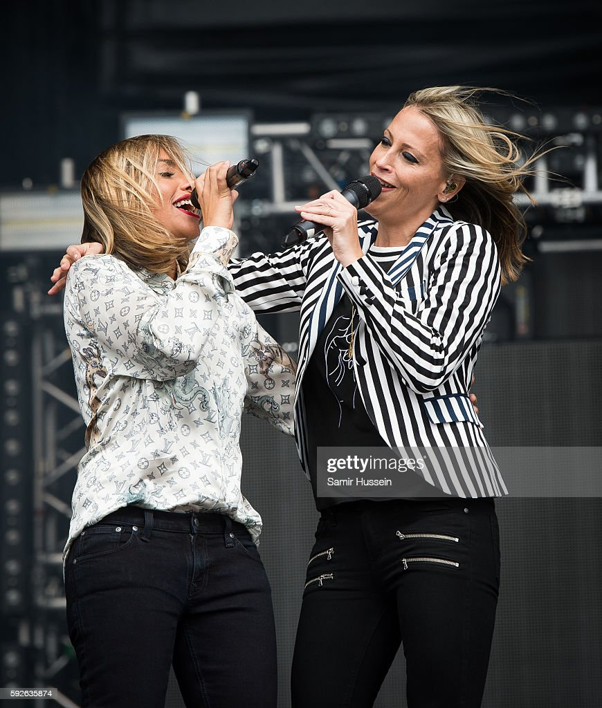 Melanie Blatt and Nicole Appleton perform at V Festival at Hylands Park on August 21 2016 in Chelmsford England