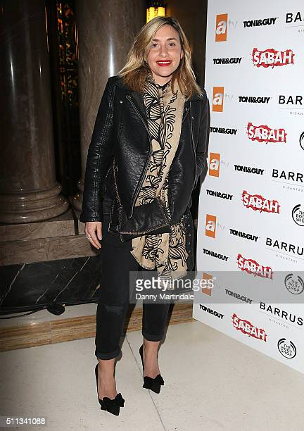 Melanie Blatt attends the Pam Hogg show during London Fashion Week Autumn/Winter 2016/17 at on February 19 2016 in London England