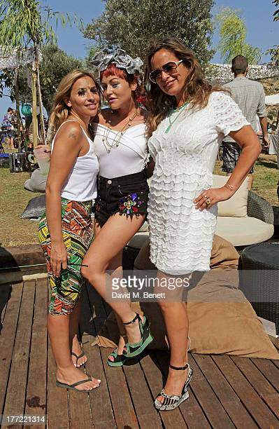 Melanie Blatt Jaime Winstone and Jade Jagger attend the Ibiza Summer Party at Can Batista on August 22 2013 in Ibiza Spain