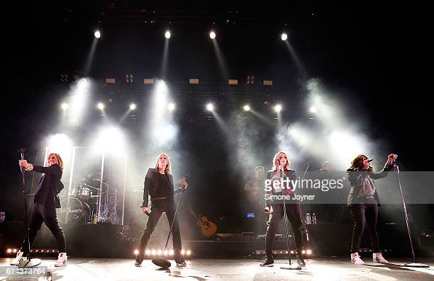 Melanie Blatt Nicole Appleton Natalie Appleton and Shaznay Lewis of All Saints perform live on stage at O2 Academy Brixton on October 13 2016 in...