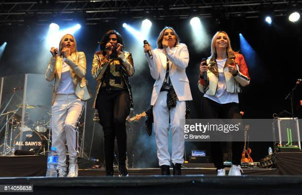 Melanie Blatt Nicole Appleton Natalie Appleton and Shaznay Lewis of All Saints perform on stage during Day 3 of Kew the Music at Kew Gardens on July...