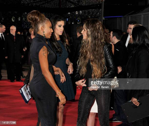 Melanie Brown aka Mel B and Katie Price arrive at the European Premiere of 'The Hunger Games' at the O2 Arena on March 14 2012 in London England