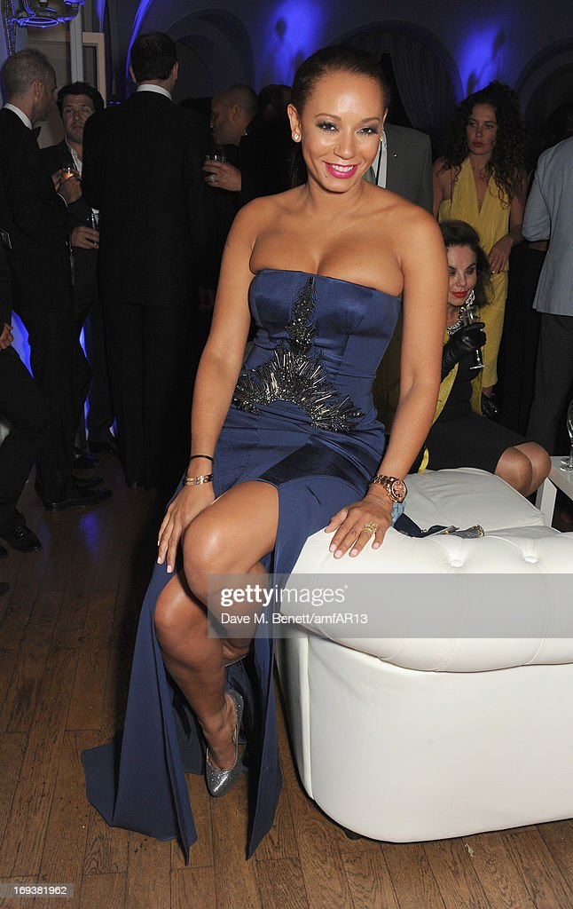 <a gi-track='captionPersonalityLinkClicked' href=/galleries/search?phrase=Melanie+Brown&family=editorial&specificpeople=159736 ng-click='$event.stopPropagation()'>Melanie Brown</a> aka Mel B attends 'Moncler, The After Party To Benefit amfAR' during The 66th Annual Cannes Film Festival at Hotel du Cap-Eden-Roc on May 23, 2013 in Cap d'Antibes, France.
