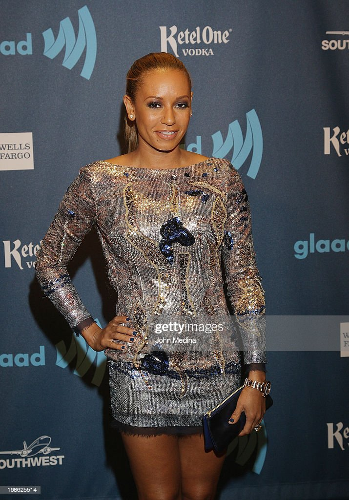 Melanie Brown, aka Mel B, attends the 24th Annual GLAAD Media Awards at the Hilton San Francisco - Union Squareon May 11, 2013 in San Francisco, California.