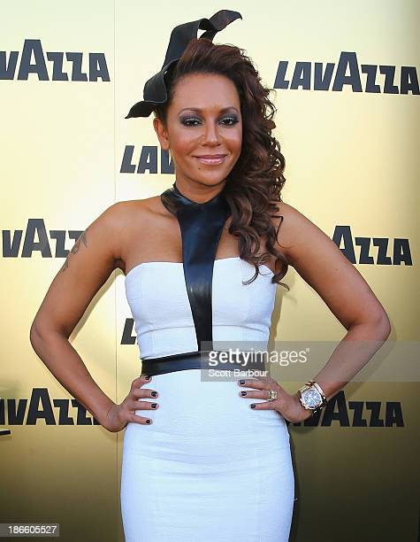 Melanie Brown aka Mel B attends the Lavazza marquee on Victoria Derby Day at Flemington Racecourse on November 2 2013 in Melbourne Australia