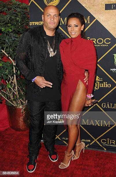 Melanie Brown and husband Stephen Belafonte arrive at the Maxim Hot 100 Party at the Hollywood Palladium on July 30 2016 in Los Angeles California