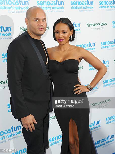 Melanie Brown and Stephan Belafonte attend the Serious Fun Gala at The Roundhouse on November 4 2014 in London England