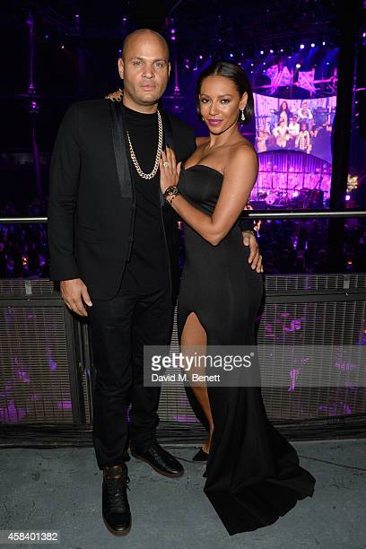 Melanie Brown and Stephen Belafonte attend the second annual SeriousFun Network Gala at at The Roundhouse on November 4 2014 in London England