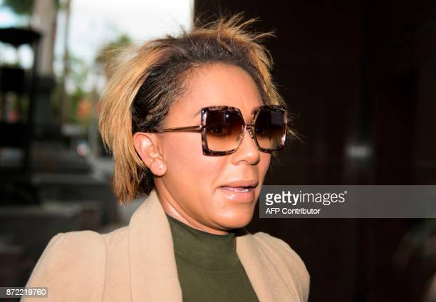 Melanie Brown arrives for her case against estranged husband Stephen Belafonte November 9 outside the Los Angeles Superior Court Stanley Mosk...
