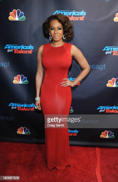 Melanie Brown attends 'America's Got Talent' season 8 post show finale red carpet event at Radio City Music Hall on September 18 2013 in New York City