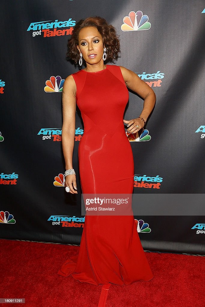 Melanie Brown attends 'America's Got Talent' Season 8 Pre-Show Red Carpet Event at Radio City Music Hall on September 17, 2013 in New York City.