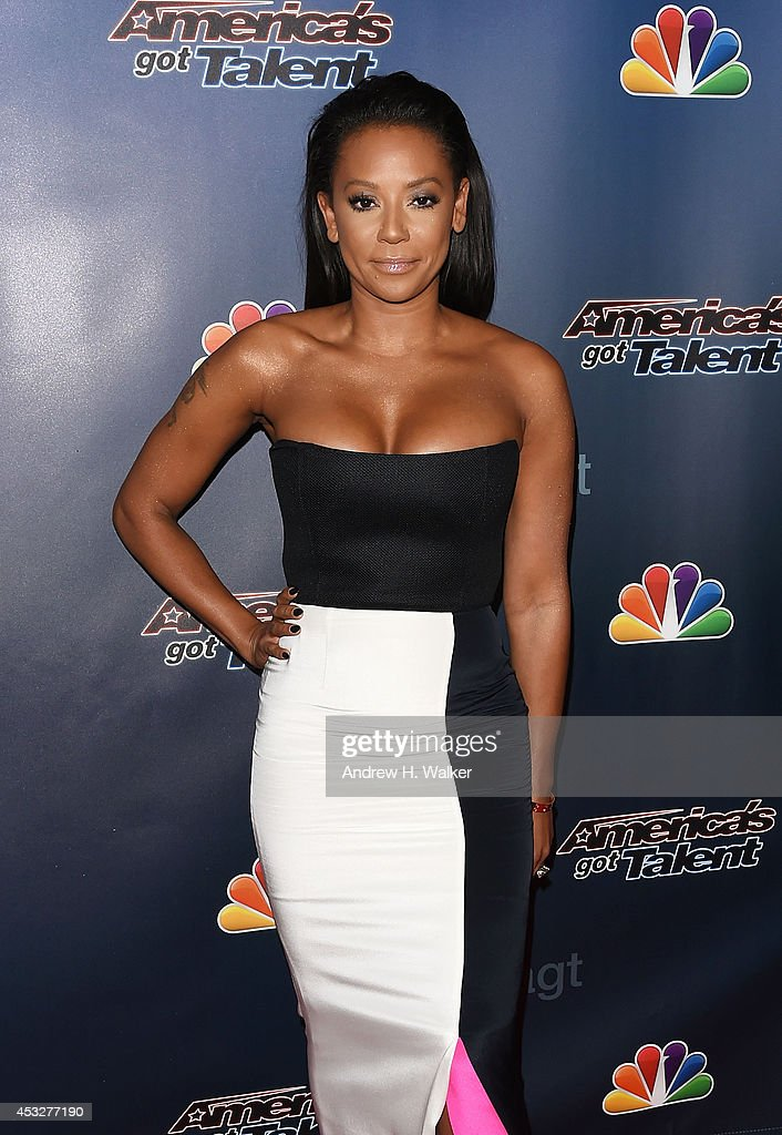 <a gi-track='captionPersonalityLinkClicked' href=/galleries/search?phrase=Melanie+Brown&family=editorial&specificpeople=159736 ng-click='$event.stopPropagation()'>Melanie Brown</a> attends 'America's Got Talent' season 9 post show red carpet event at Radio City Music Hall on August 6, 2014 in New York City.