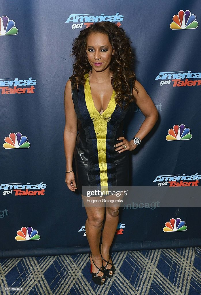 <a gi-track='captionPersonalityLinkClicked' href=/galleries/search?phrase=Melanie+Brown&family=editorial&specificpeople=159736 ng-click='$event.stopPropagation()'>Melanie Brown</a> attends the 'America's Got Talent' post show red carpet at Radio City Music Hall on August 21, 2013 in New York City.