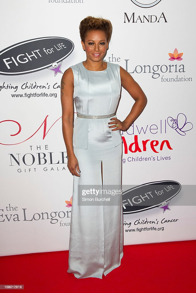 Melanie Brown attends the Noble Gift Gala at The Dorchester on December 8, 2012 in London, England.