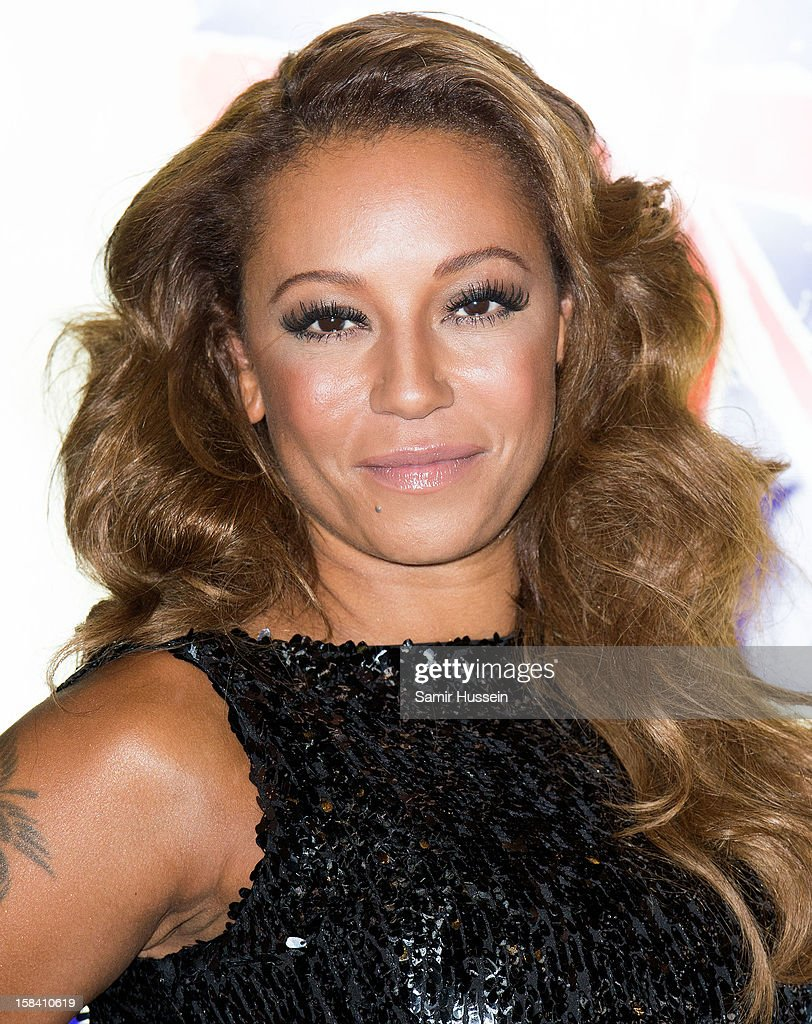 Melanie Brown attends the press night of 'Viva Forever', a musical based on the music of The Spice Girls at Piccadilly Theatre on December 11, 2012 in London, England.