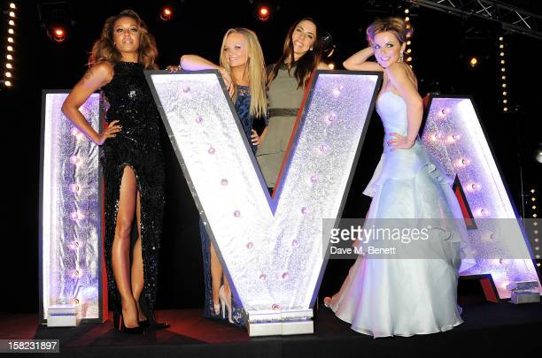 Melanie Brown Emma Bunton Melanie Chisholm and Geri Halliwell attend an after party celebrating the Gala Press Night performance of 'Viva Forever' at...