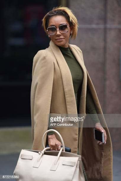 Melanie Brown leaves Los Angeles Superior Court Stanley Mosk Courthouse in Los Angeles California November 9 2017 Attorneys for Brown and her...