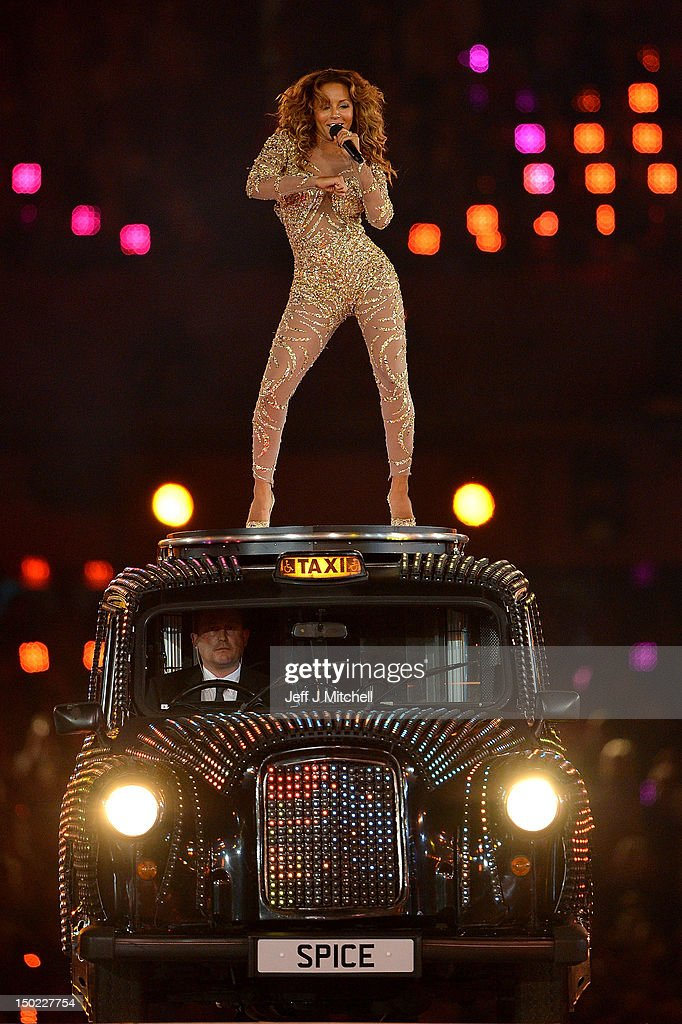 Melanie Brown of the Spice Girls performs during the Closing Ceremony on Day 16 of the London 2012 Olympic Games at Olympic Stadium on August 12, 2012 in London, England.
