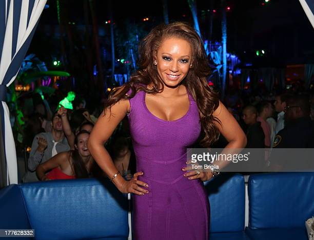 Melanie Brown visits The Pool After Dark at Harrah's Resort on Saturday August 24 2013 in Atlantic City New Jersey