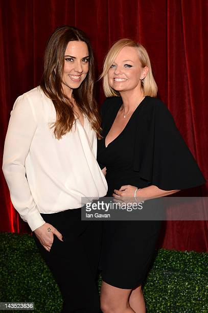 Melanie C and Emma Bunton attend The 2012 British Soap Awards at ITV Studios on April 28 2012 in London England