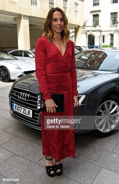 Melanie C arrives in an Audi at the Nordoff Robbins at Grosvenor House Hotel on June 30 2017 in London United Kingdom