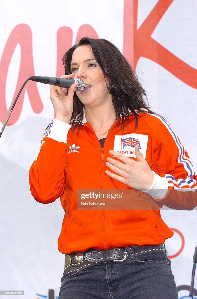 Melanie C (aka Sporty Spice of the <a gi-track='captionPersonalityLinkClicked' href=/galleries/search?phrase=Spice+Girls&family=editorial&specificpeople=534365 ng-click='$event.stopPropagation()'>Spice Girls</a>) during London Celebrates its Successful Olympic Bid for the 2012 Summer Games - Party at Trafalgar Square in London, Great Britain.