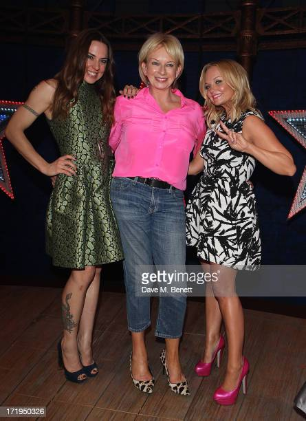 Melanie C Judy Craymer and Emma Bunton attend an after party following the final performance of 'Viva Forever' at the Piccadilly Theatre on June 29...