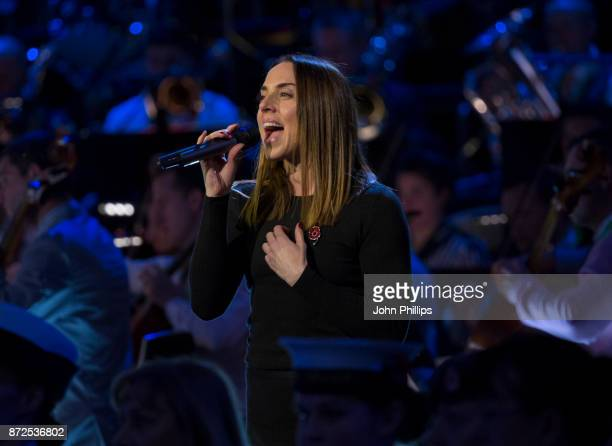 Melanie C preforms during a rehearsal for her performance at The Royal British Legion's Festival of Remembrance at Royal Albert Hall on November 10...