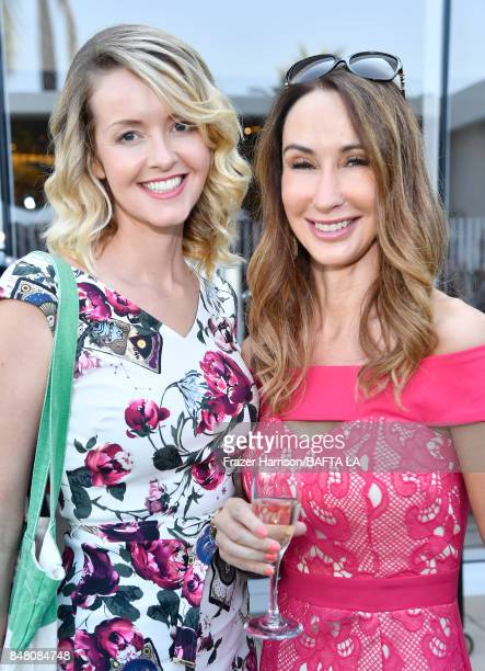Melanie Camp and Nadia Jordan attend the BBC America BAFTA Los Angeles TV Tea Party 2017 at The Beverly Hilton Hotel on September 16 2017 in Beverly...