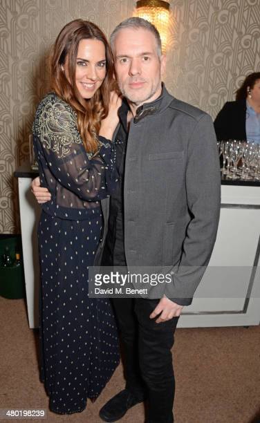 Melanie Chisholm aka Mel C and Chris Moyles attend the 1000th performance of 'Matilda The Musical' in the West End at the Cambridge Theatre on March...
