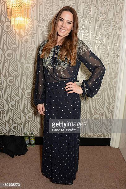 Melanie Chisholm aka Mel C attends the 1000th performance of 'Matilda The Musical' in the West End at the Cambridge Theatre on March 23 2014 in...