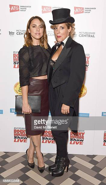 Melanie Chisholm and Mel Giedroyc attends the after party following the gala charity performance of 'Rocky Horror Show' at Picturehouse Central on...