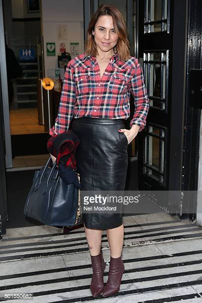 Melanie Chisholm seen at BBC Radio 2 on December 16 2015 in London England