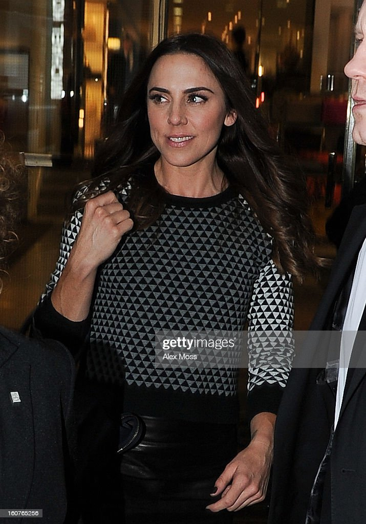 Melanie Chisholm seen leaving the Viva Forever afternoon tea launch at Harvey Nichols on February 5, 2013 in London, England.