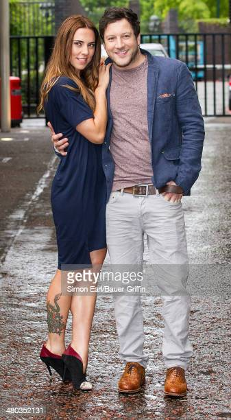 Melanie Chisolm and Matt Cardle are seen on August 16 2013 in London United Kingdom