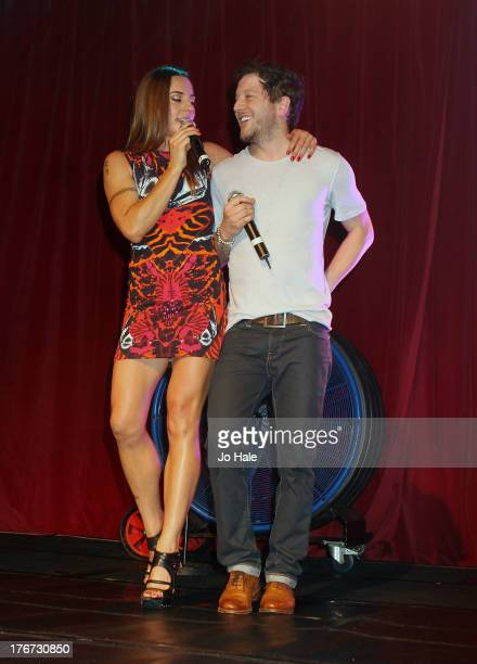 Melanie Chisolm and Matt Cardle perform on stage at GAY on August 17 2013 in London England