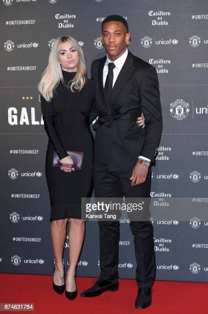Melanie Da Cruz and Anthony Martial attend the United for Unicef Gala Dinner at Old Trafford on November 15 2017 in Manchester England