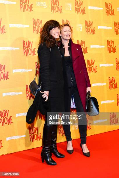 Melanie Doutey and Alexandra Lamy during 'Baby Phone' Paris Premiere at Cinema UGC Normandie on February 20 2017 in Paris France