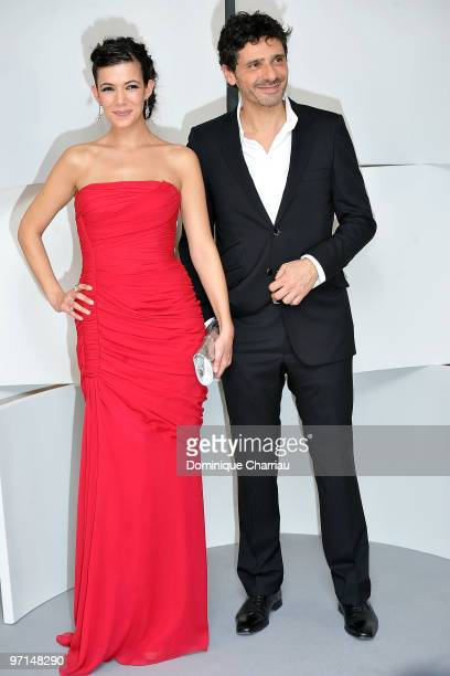 Melanie Doutey and Pascal Elbe pose in the Awards Room during 35th Cesar Film Awards at Theatre du Chatelet on February 27 2010 in Paris France