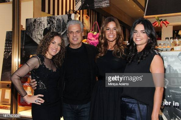 Melanie Dunea Eric Ripert Kelly Bensimon and Katie Lee attend the Food Bank Ad Campaign Photo Exhibit Unveiling Hosted By Henri Bendel on September...