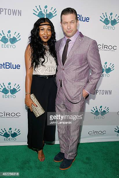 Melanie Fiona and Stephen Baldwin attend the 3rd Annual Edeyo Gives Hope Ball at The Liberty Theatre on July 16 2014 in New York City