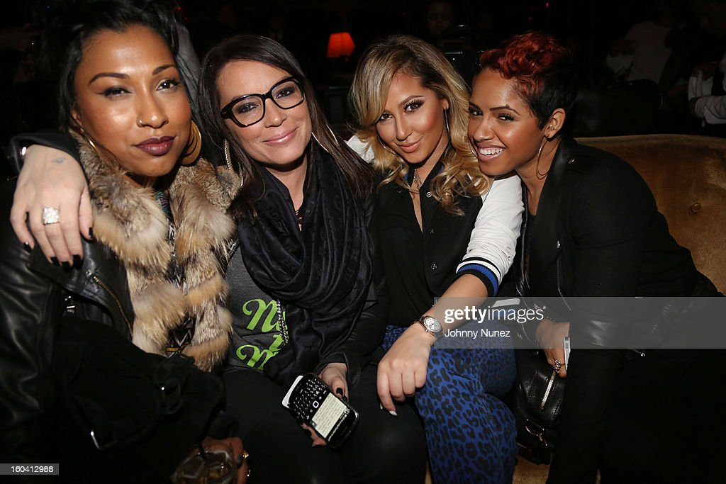 <a gi-track='captionPersonalityLinkClicked' href=/galleries/search?phrase=Melanie+Fiona&family=editorial&specificpeople=5543211 ng-click='$event.stopPropagation()'>Melanie Fiona</a>, <a gi-track='captionPersonalityLinkClicked' href=/galleries/search?phrase=Angie+Martinez&family=editorial&specificpeople=664057 ng-click='$event.stopPropagation()'>Angie Martinez</a>, <a gi-track='captionPersonalityLinkClicked' href=/galleries/search?phrase=Adrienne+Bailon&family=editorial&specificpeople=540286 ng-click='$event.stopPropagation()'>Adrienne Bailon</a> and RaVaughn Brown attend the DJ Enuff Birthday Celebration at The Griffin on January 30, 2013 in New York City.
